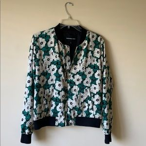 High fashion flower bomber jacket.
